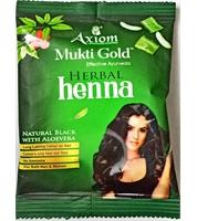 Axiom Mukti Gold Herbal Henna Mehndi Black 10 Gm Pack of 1